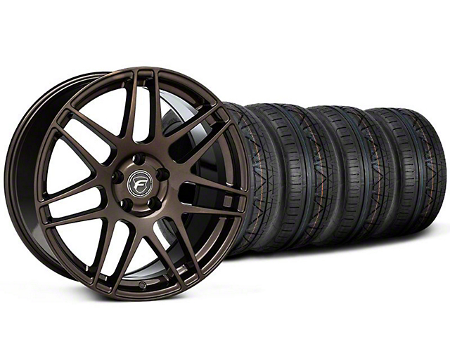 Staggered Forgestar F14 Bronze Burst Wheel and NITTO INVO Tire Kit; 19x9/11 (05-14 All)