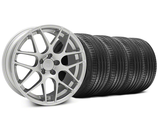 Staggered AMR Silver Wheel & Sumitomo Tire Kit - 20x8.5/10 (05-14 All)