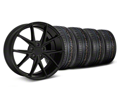 Niche Misano Matte Black Wheel & NITTO INVO Tire Kit - 19x8.5 (15-19 All)