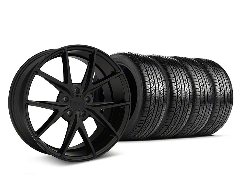 Niche Misano Matte Black Wheel & Pirelli Tire Kit - 19x8.5 (05-14 All)