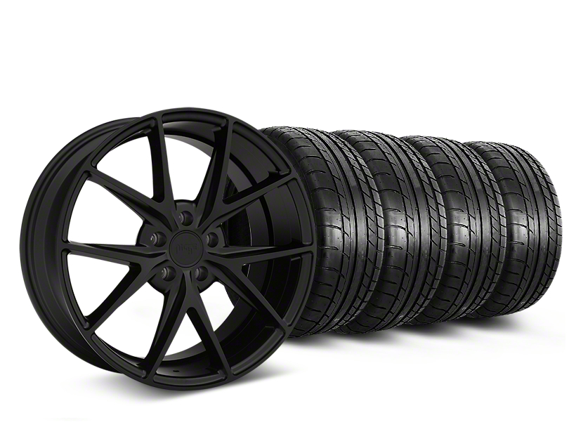 Niche Misano Matte Black Wheel & Mickey Thompson Tire Kit - 19x9.5 (05-14 All)