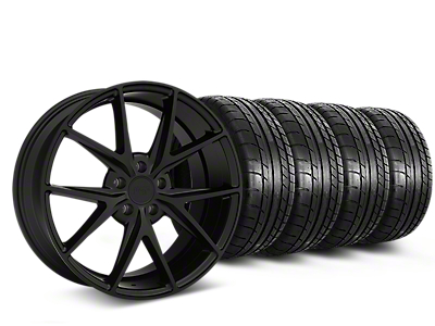 Niche Misano Matte Black Wheel & Mickey Thompson Tire Kit - 19x9.5 (15-18 All)