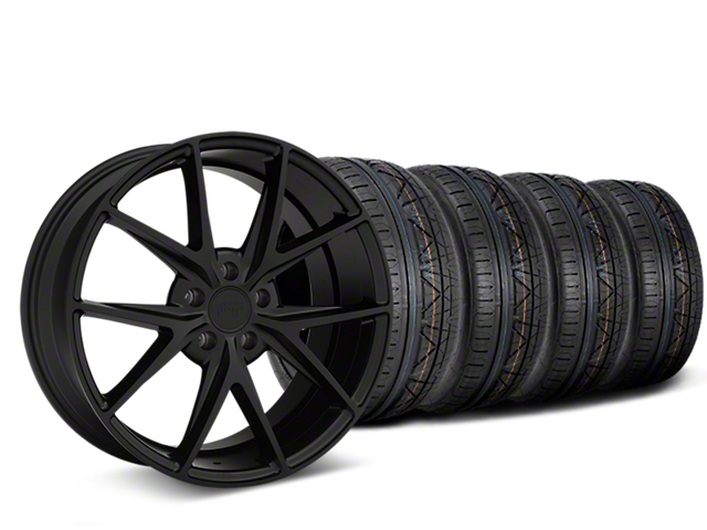 Niche Misano Matte Black Wheel & NITTO INVO Tire Kit - 19x9.5 (15-19 All)