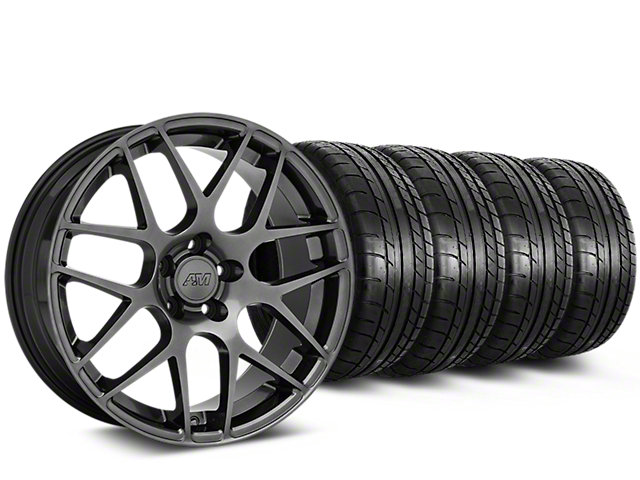 Staggered AMR Dark Stainless Wheel & Mickey Thompson Tire Kit - 19x10/11 (05-14 All)