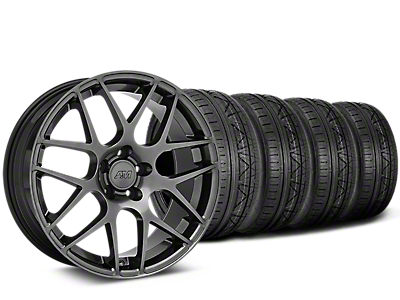 Staggered AMR Dark Stainless Wheel & NITTO INVO Tire Kit - 19x10/11 (05-14 All)