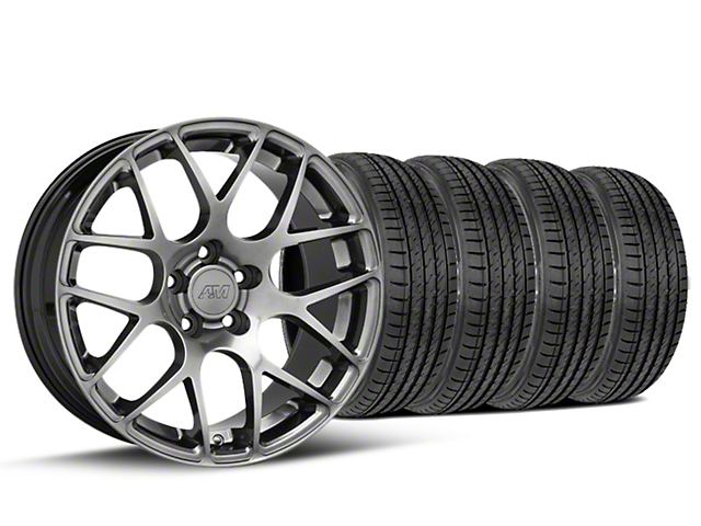 Staggered AMR Dark Stainless Wheel & Sumitomo Tire Kit - 19x10/11 (15-17 All)