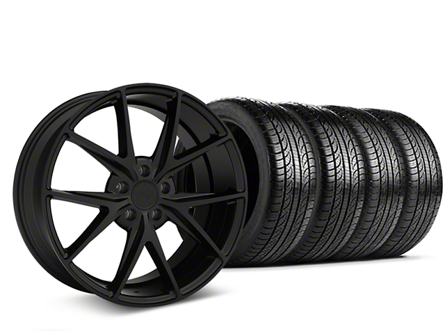 Staggered Niche Misano Matte Black Wheel & Pirelli Tire Kit - 19x8.5/9.5 (05-14 All)