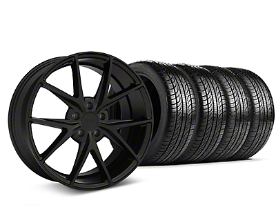 Staggered Niche Misano Matte Black Wheel & Pirelli Tire Kit - 19x8.5/9.5 (15-18 All)