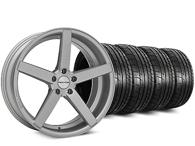 Staggered Rovos Durban Brushed Wheel & Mickey Thompson Tire Kit - 20 in. - 2 Rear Options (15-19 All)