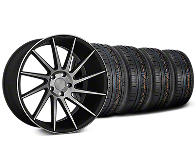 Staggered Niche Surge Double Dark Directional Wheel & NITTO INVO Tire Kit - 20x8.5/10 (15-17 All)