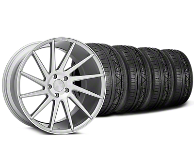Staggered Niche Surge Silver Machined Directional Wheel & NITTO INVO Tire Kit - 20x8.5/10 (05-14 All)