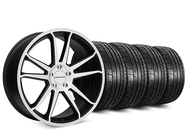 Staggered Concavo CW-S5 Matte Black Machined Wheel & Mickey Thompson Tire Kit - 20 in. - 2 Rear Options (15-17 All)