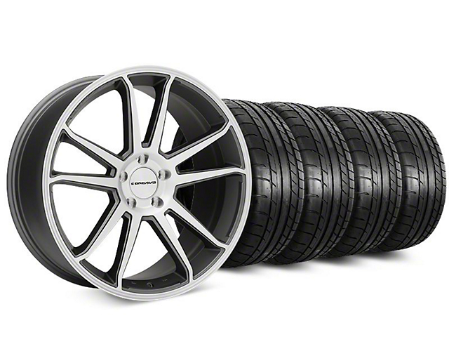 Staggered Concavo CW-S5 Matte Gray Machined Wheel & Mickey Thompson Tire Kit - 20 in. - 2 Rear Options (15-17 All)
