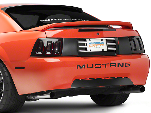 Modern Billet Mustang Rear License Plate Frame - Black Billet 388718 ...