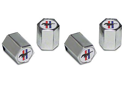 Valve Stem Caps - Tri-Bar Pony Logo