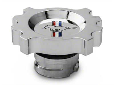Modern Billet Chrome Oil Cap - Tri-Bar Logo (05-17 GT