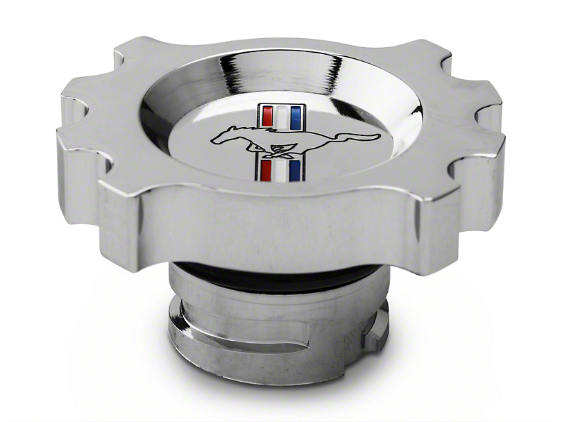 Modern Billet Chrome Oil Cap - Tri-Bar Logo (05-17 GT, V6)