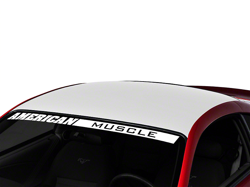 American Muscle Graphics White Solid Roof Decal (94-04 All)