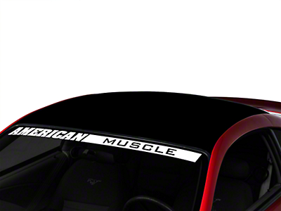 American Muscle Graphics Black Solid Roof Decal (94-04 All)