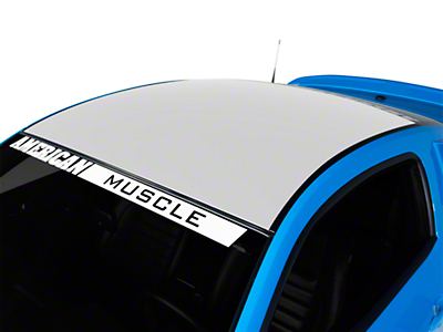 American Muscle Graphics White Solid Roof Decal (05-14 All)
