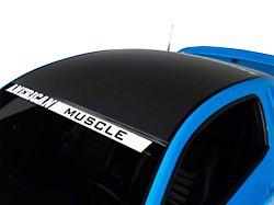 American Muscle Graphics Matte Black Solid Roof Decal (05-14 All)