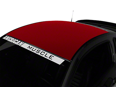 American Muscle Graphics Red Solid Roof Decal (05-14 All)
