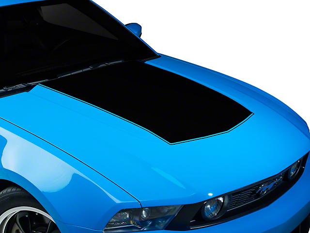 American Muscle Graphics Black Single Hood Stripe (10-12 GT, V6)