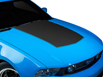 American Muscle Graphics Matte Black Single Hood Stripe (10-12 GT, V6)