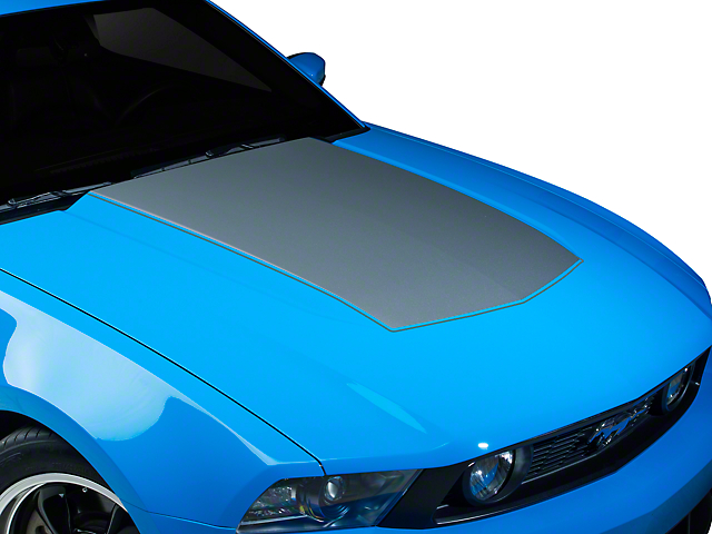 American Muscle Graphics Silver Single Hood Stripe (10-12 GT, V6)