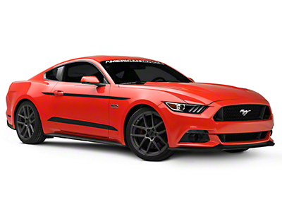 American Muscle Graphics Matte Black Side Accent Decals (15-19 All)