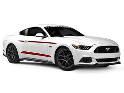 American Muscle Graphics Mustang Red Side Accent Decals