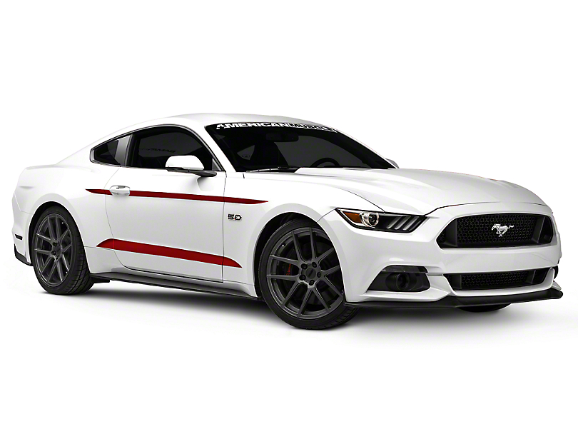 American Muscle Graphics Red Side Accent Decals (2015 All) (15-18 All)