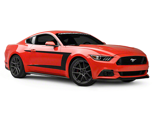 American Muscle Graphics Side Stripes; Matte Black (15-20 All)