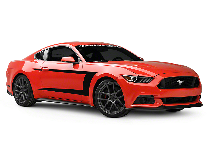 2015 Mustang Stripes >> American Muscle Graphics Mustang Black Side Stripe 388797 15 17