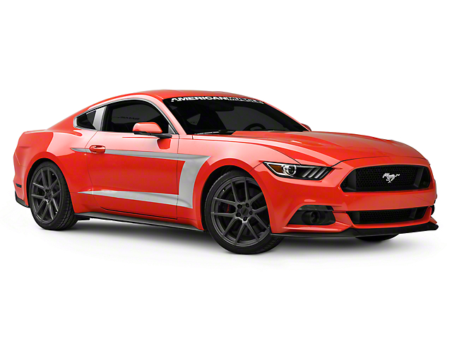 American Muscle Graphics Silver Side Stripe (15-18 All)