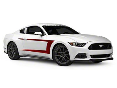 American Muscle Graphics Red Side Stripe (15-19 All)