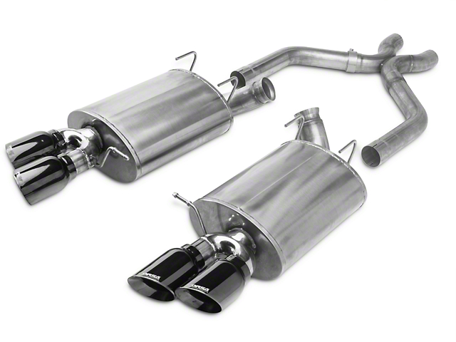 Corsa Sport Axle-Back Exhaust w/ X-Pipe & Black Quad Tips (13-14 GT500)