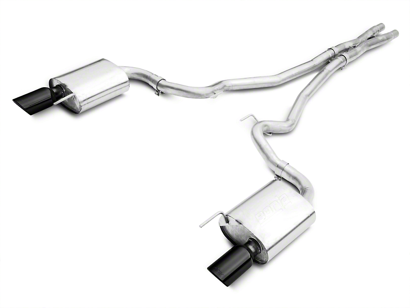 Borla Stinger S-Type 2.5in. Cat-Back Exhaust - Black Tips (15-17 GT)