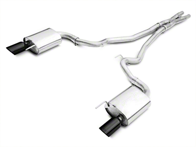 Borla Stinger S-Type 2.5 in. Cat-Back Exhaust w/ Black Tips (15-17 GT)
