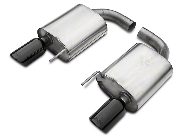Borla Stinger S-Type 2.50-Inch Axle-Back Exhaust with Black Chrome Tips (15-17 GT)