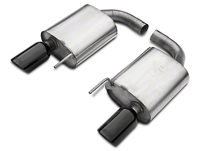 Borla Stinger S-Type 2.5 in. Axle-Back Exhaust - Black Tips (15-17 GT)
