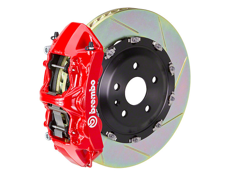 Brembo GT Series 6-Piston Front Big Brake Kit w/ 15 in. Type 1 Slotted Rotors - Red Calipers (15-20 All)