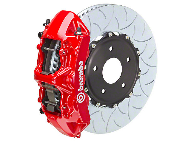 Brembo GT Series 6-Piston Front Brake Kit - 15 in. Type 3 Slotted Rotors - Red (15-18 All)