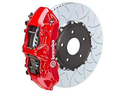 Brembo GT Series 6-Piston Front Brake Kit Red - 15 in. Type 3 Slotted Rotors (15-18 All)
