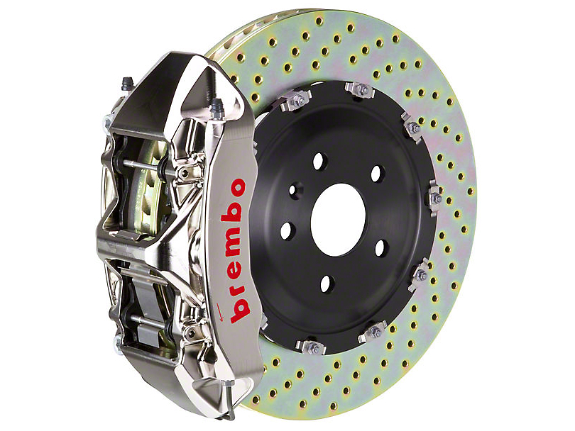 Brembo Brake Kit >> Brembo Mustang Gt R 6 Piston Front Brake Kit 15 In Drilled