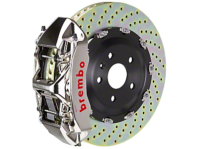 Brembo GT-R 6-Piston Front Brake Kit - 15 in. Drilled Rotors (15-18 All)