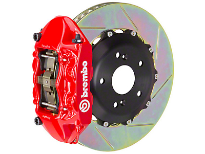 Brembo GT Series 4-Piston Rear Brake Kit - 15 in. Type 3 Slotted Rotors - Red (15-18 EcoBoost, V6)