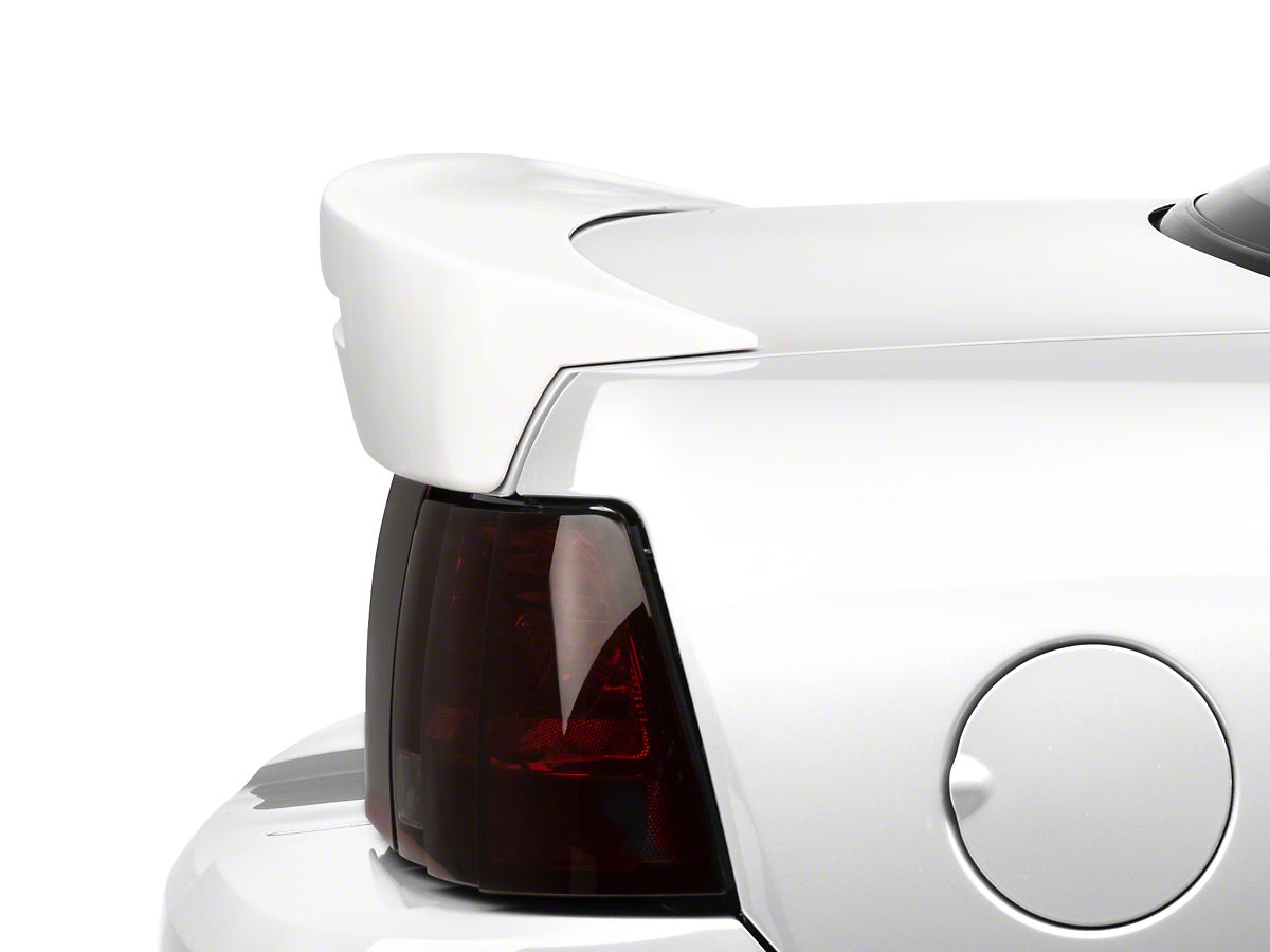 Extreme Online Store Replacement for 1999-2004 Ford Mustang Cobra Style ABS Plastic Primer Black Rear Trunk Lid Spoiler Wing Lip Brake Light Insert