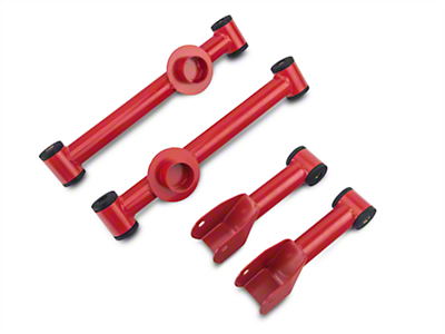 SR Performance Complete Rear Control Arm Kit - Red (79-04 All, Excluding 99-04 Cobra)