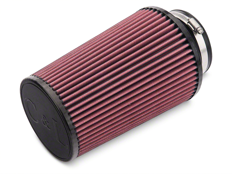 C&L Cold Air Intake Replacement Filter; 4-Inch Inlet / 9-Inch Length